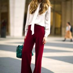 Bordo 2015 İspanyol Paça Pantolon Modelleri