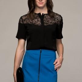 Dantel Detaylı Siyah adL 2015 Bluz Modelleri
