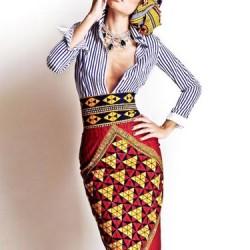 Dekolteli Etnik Desenli Elbise Modelleri