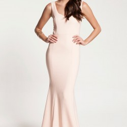 Kalp Yaka Pudra 2015 Elbise Modelleri
