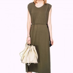 Kolsuz Haki Rengi İpekyol Elbise Modelleri