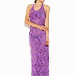 Mor Desenli Bayram İçin Elbise Modelleri