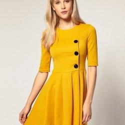 Sarı Elbise 2015 Yaz Sezonu Renk Trendleri