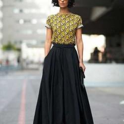 Siyah Uzun 2015 Çan Etek Modelleri