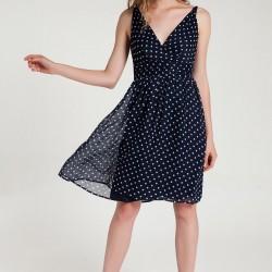 V Yaka Puantiyeli Vero Moda 2015 Elbise Modelleri