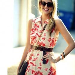 Çiçek Desenli 2015 Gömlek Elbise Modelleri