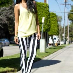 Çizgili Pantolon Kombinleri