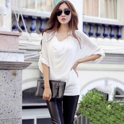 İddialı Şifon Yarasa Kol Bluz Modelleri 2015