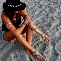 Şık 2015 Yaz Trendi Geçici Dövme Modası