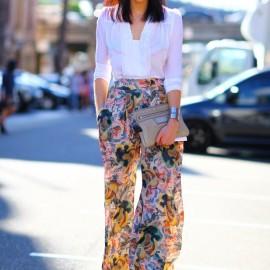 Şifon Bluz Beyaz Renk Yazlık Kombinler