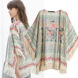 Açık Renk Yazlık Kimono Modelleri