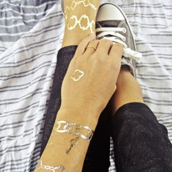 Aksesuar Görünümlü 2015 Yaz Trendi Geçici Dövme Modası