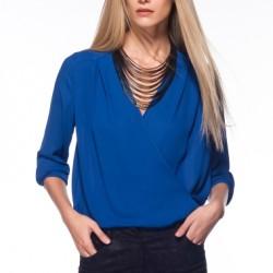 Aksesuarlı V Yaka Bluz Modelleri