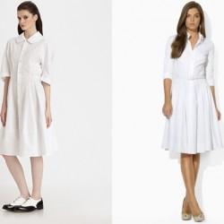 Beyaz 2015 Gömlek Elbise Modelleri