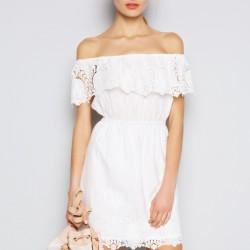 Beyaz Dantelli Twist 2015 Elbise Modelleri