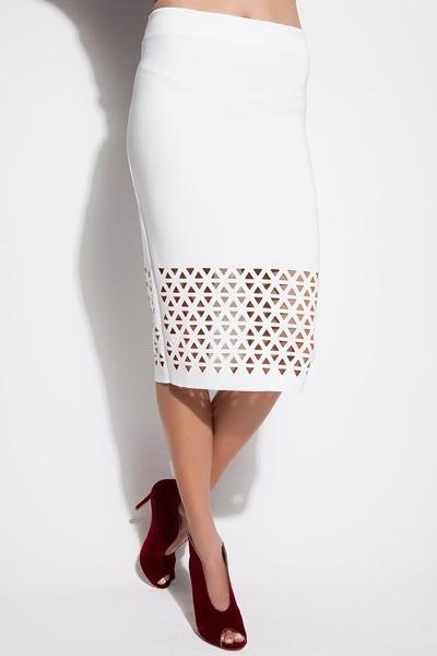 Beyaz Kalem Lazer Kesim Etek Modelleri 2015