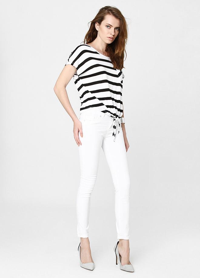 Beyaz Pantolon 2015 Sokak Modası