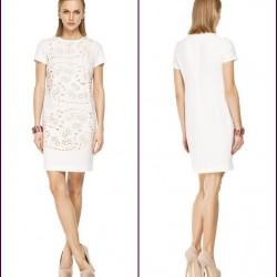 Beyaz Sade 2015 Lazer Kesim Elbise Modelleri
