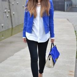 Ceket Yazlık Saks Mavisi Kombinleri
