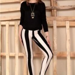 Dar Çizgili Pantolon Modelleri