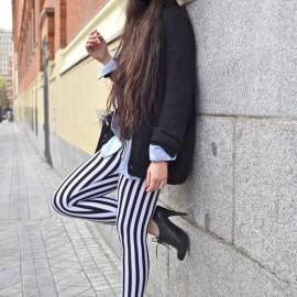 Dar Paça Çizgili Pantolon Modelleri