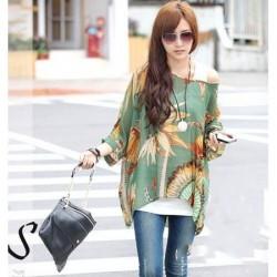 Desenli Yarasa Kol Bluz Modelleri 2015