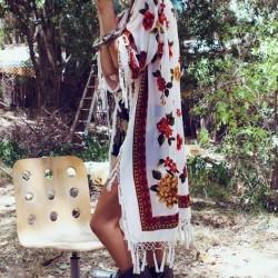 Desenli Yazlık Kimono Modelleri