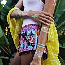 Etnik Desenli 2015 Yaz Trendi Geçici Dövme Modası
