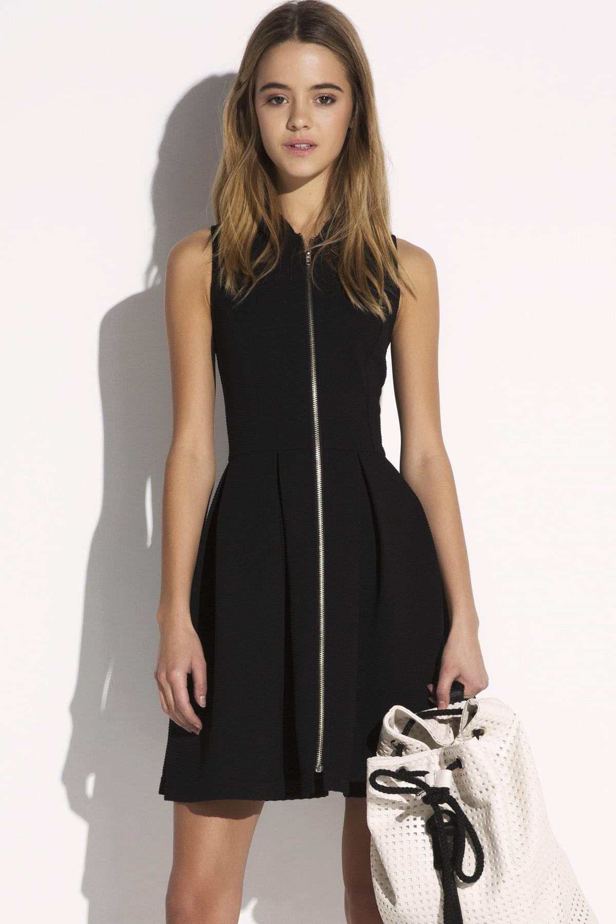 Fermuar Detaylı Siyah Twist 2015 Elbise Modelleri