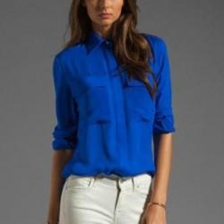 Gömlek Yazlık Saks Mavisi Kombinleri