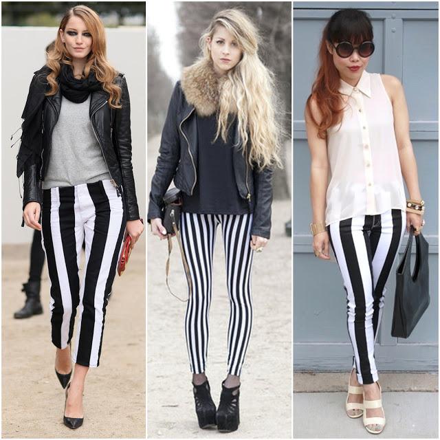 Kısa Paça Çizgili Pantolon Modelleri