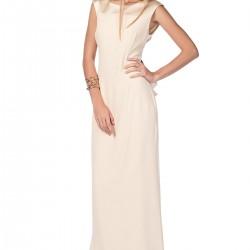 Kolsuz Şampanya Rengi Roman Elbise Modelleri