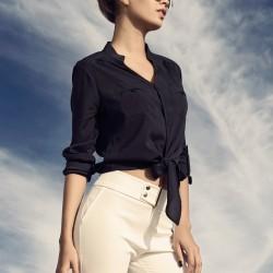 Lacivert Gömlek İroni 2015 Modelleri