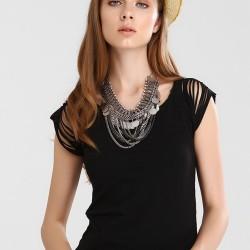 Omuz Detaylı Bluz 2015 Sokak Modası