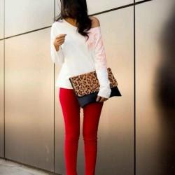 Omuz Detaylı Bluz Beyaz Renk Yazlık Kombinler