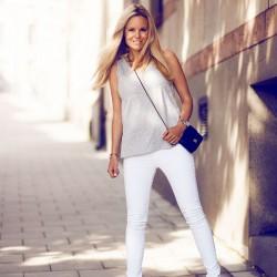 Pantolon Beyaz Renk Yazlık Kombinler