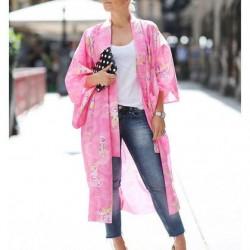 Pembe Yazlık Kimono Modelleri