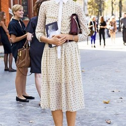 Puantiyeli 2015 Gömlek Elbise Modelleri