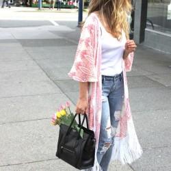 Sade Yazlık Kimono Modelleri