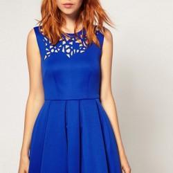 Saks Mavisi 2015 Lazer Kesim Elbise Modelleri