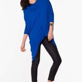 Salaş Saks Mavisi Bluz Modelleri