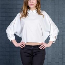 Sivri Yaka Detaylı Yarasa Kol Bluz Modelleri 2015