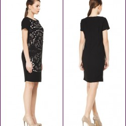 Siyah 2015 Lazer Kesim Elbise Modelleri