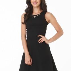 Siyah Elbise 2015 Sokak Modası