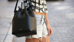Siyah Yazlık Büzgülü Çanta Modelleri