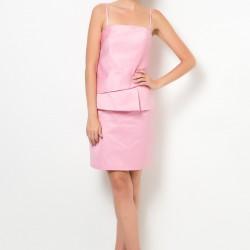 Spagetti Askılı Pembe Roman Elbise Modelleri