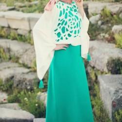 Tesettür 2015 Lazer Kesim Elbise Modelleri