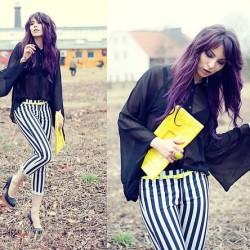 Yazlık Çizgili Pantolon Modelleri