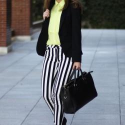 Yeni Çizgili Pantolon Modelleri
