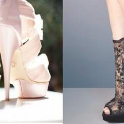 Yeni 2015 Dantelli Topuklu Ayakkabı Modelleri